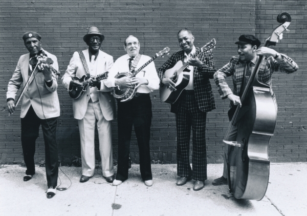 Louie Bluie and fellow musicians